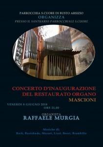 Concerto dai Frati di Busto Arsizio, Chiesa del Sacro Cuore 08/06/2018